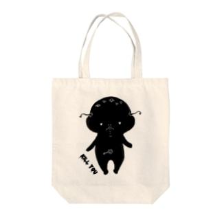 荒ぶるぴこぴこちゃんKILLYOUノート Tote bags