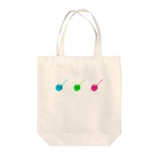 チェリー型ゼリー(ドット絵) Tote bags