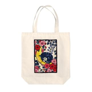 青猫花猫〜桜藤〜 Tote bags