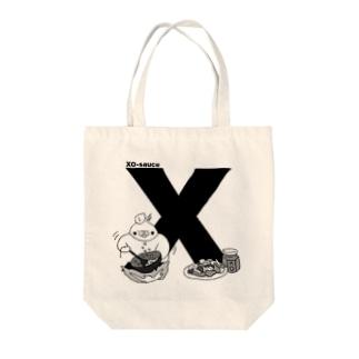 ふくよかオカメのイニシャルグッズ【X】 Tote bags