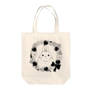ウサギのトートバッグ Tote bags
