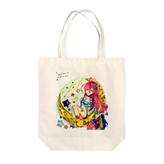 三日月仕掛けの娘 Tote bags
