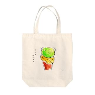 アイスクリーム Tote bags