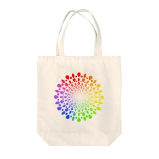 ひろがる虹のしずく Tote bags