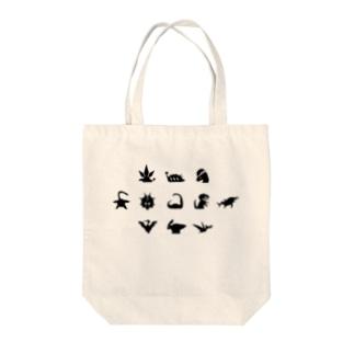 キョウリュウピクト Tote bags