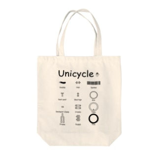 Unicycle Tote bags