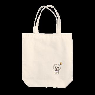 ミカトリエのビションフリーゼ Tote bags