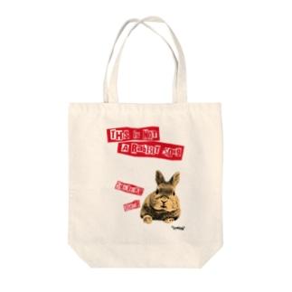 助六ばんど This is not a rabbit song Tote bags