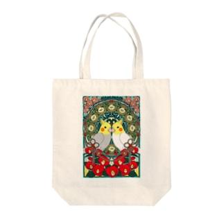 オカメインコ椿【まめるりはことり】 Tote bags