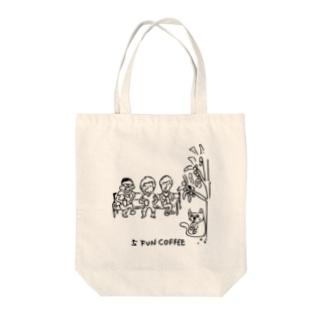 5 FUN COFFEE cat Tote bags
