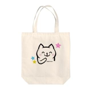 LINEスタンプ販売記念★ねこ美さん Tote bags