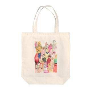 AYA@アートスケッチャーの世界中の人々 Tote bags