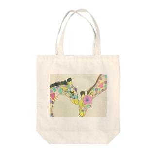 夫婦キリンgoods Tote bags