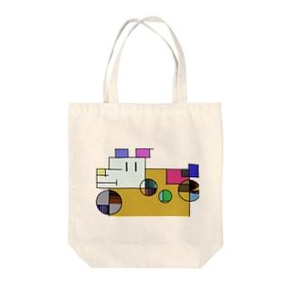 ざっしゅいぬ Tote bags