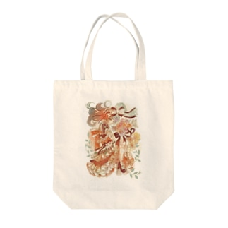 花束と乙女 Tote bags