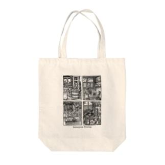 昔々の活版印刷 Tote bags