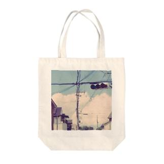 真夏の信号機 Tote bags