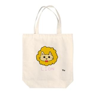 つーちゃんのライオン Tote bags