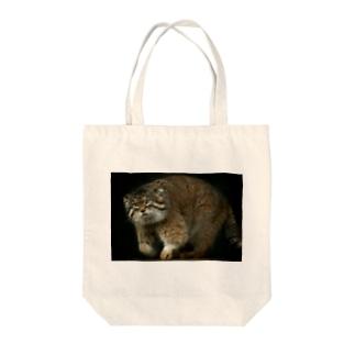 otocolobus manulのカッコいいマヌルネコ Tote bags