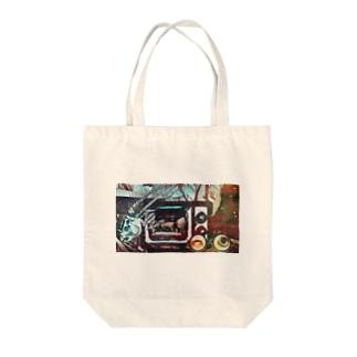 虚構商店のジゴクTV Tote bags