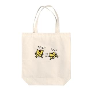 シュッL('ω')」三L('ω')」シュッ Tote bags