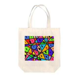 NEKOZE柄もんロゴ Tote bags
