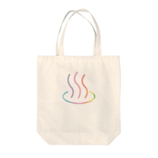レインボー温泉 Tote bags