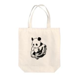 マッスルパンダ Tote bags
