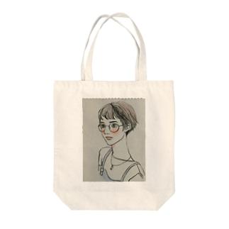ショートのメガネっ子 Tote bags