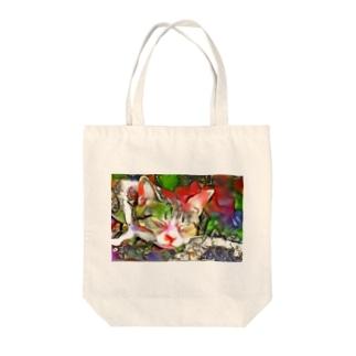 ネコ[ゆめかわいい] Tote bags