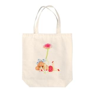 花と私 トートバッグ