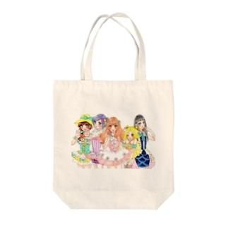 アイドル! Tote bags