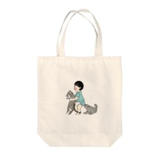 幼なじみ Tote bags
