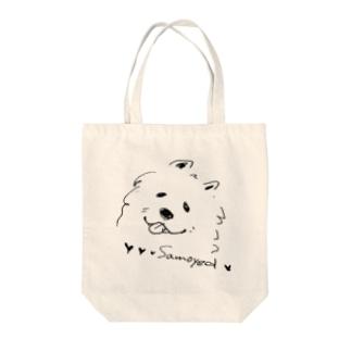 MOFUMOFU uniple_samoyed Tote bags
