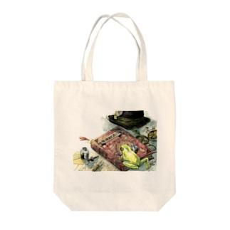 ノーチのしっぽ研究所 購買部の祖への解雇 Tote bags