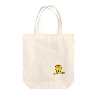 プリン星人ジャンプトート Tote bags