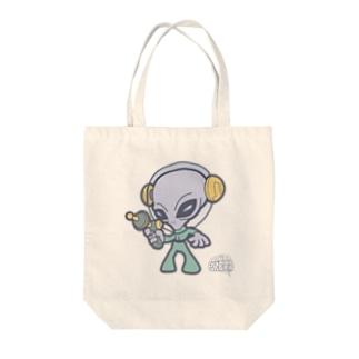 グレイタイプ・エイリアン Tote bags