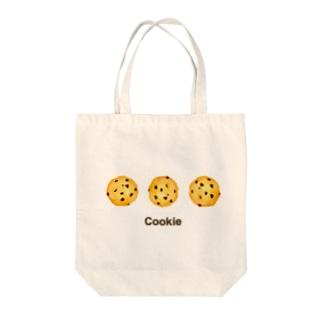 チョコチップクッキー Tote bags