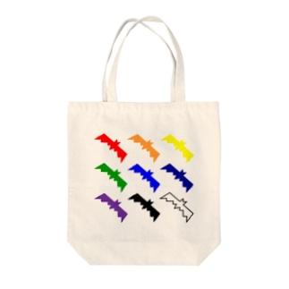 COLOR-BAT RAINBOW Tote bags
