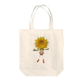 flower dolls ヒマワリ Tote bags