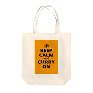 KEEP CALM AND CURRY ON Tote bags