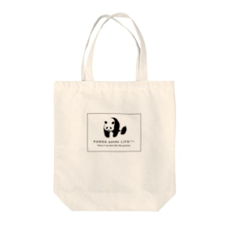 のしのしパンダ スクエア Tote bags
