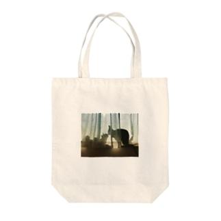 エモい猫姉妹トートバッグ エコバック Tote bags