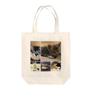 ねこぱんちファミリートートバッグ(大人はお休み) Tote bags