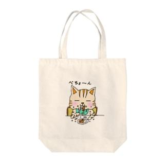 ベビにゃ Tote bags