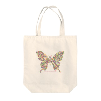 Love flies into the mosaic. Tote bags