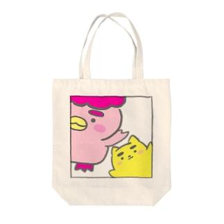 ぽちゃ✖️まゆ太 Tote bags