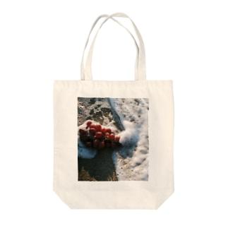 bfs art - grape Tote bags