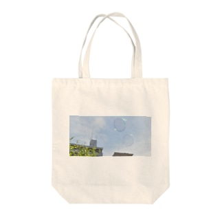 シャボン玉と水色の空 Tote bags