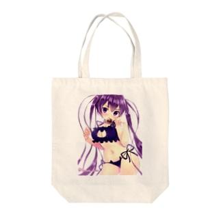 例の下着のツインテール少女 Tote bags